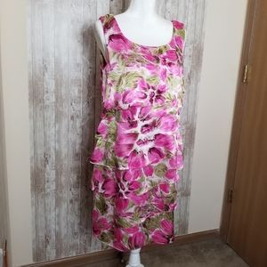 Connected Women's Tier Dress Size 12 Floral
